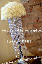 crystal table top chandelier centerpieces for weddings , flower stand wedding table centerpiececs