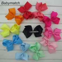 Babymatch 20pcs/lot Big Bow For Kids Hair 6 Inch Ribbon Hair Bows With Alligator Clips large Girl Head Bow Free Shipping