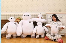 Hot Item 39'' / 100cm Big Hero 6 Giant Stuffed Soft Plush Lovely Anime Baymax Toy Nice Gift Free Shipping