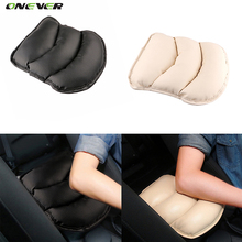 Soft PU Leather Car Auto Armrests Pads Cover Vehicle Center Console Arm Rest Mats Cushion for Audi Skoda Kia Ford Focus Armrest