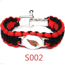 Arizona Cardinals Buccaneers Buffalo Bills Texans Paracord Bracelet Adjustable Screw Survival Bracelet Football Fans Bracelet(China)