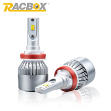Racbox Double Color Golden White Changeable Car LED Headlight Bulb Dual Color 3000K 6000K Fog Light Lamp H1 H3 H7 H11 9005 9006