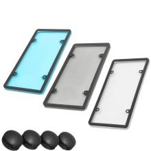 Plastic Car License Plate Frame Bubble Clear Shield Car Cover Holder HT984930390 Dark smoke gray Blue Clear