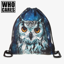 Animal Prints 3D Printing Women Backpack 2017 New Fashion Hot Womens Backpacks  Bags Drawstring Bag school bags for teenagers