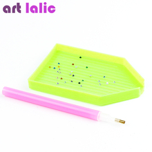 Nail Art Rhinestones Picking Pick Up Tool Pen + Clay + Dish Pick Up Pen Beads Gems  3pcs each Set Nail art sets