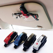 cheap price Car styling accessories glasses clip Car Sun Visor Glasses Sunglasses Ticket Receipt Card Clip Storage Holder freesh(China)