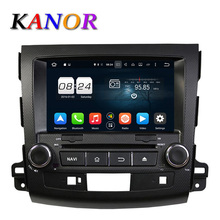 KANOR 1024*600 Octa Core Android 6.0 Car DVD Player For Mitsubishi Outlander 06-12 PC Headunit GPS Navigation 2 Din Car Stereo