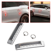 DWCX 2x Car Door Edge Solar LED Strobe Warning Light Bumper Guard Scratch Protector for VW Audi BMW Peugeot Kia Chevrolet Toyota