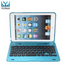 YUNAI New 2in1 For iPad Mini 1 2 3 Bluetooth 3.0 Wireless Keyboard Case Cover Dustproof Foldable Stand Cover Case Holder(China)