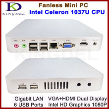 Kingdel Widely Used Thin Client PC, Mini Computer, Intel Celeron 1037U,4GB RAM 1TB HDD, WiFi,1080P HDMI,Fanless Metal Case(China)