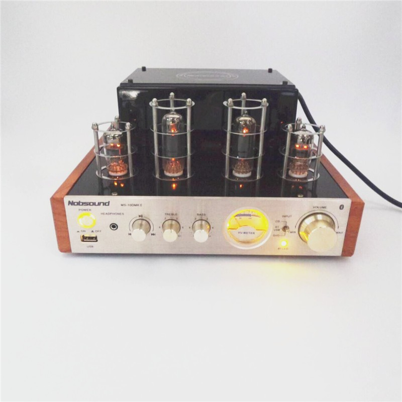 Nobsound MS-10D MKII Hifi 2.0 Amplifier USB/Home Audio tube amp 25W*2 220v amplificador bluetooth vacuum tube amplifier<br><br>Aliexpress