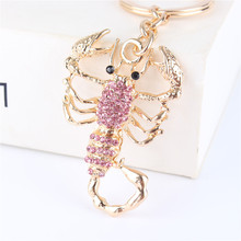 Fashion Scorpion New Cute Pendant Crystal Charm Purse Car Key Keyring Keychain Party Wedding Birthday Creative Good Gift(China)