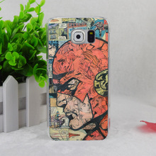 A2426 Comic Book Collages Flash Man Transparent Hard Thin Case Cover For Samsung Galaxy S3 S4 S5 S6 S6 Edge S7