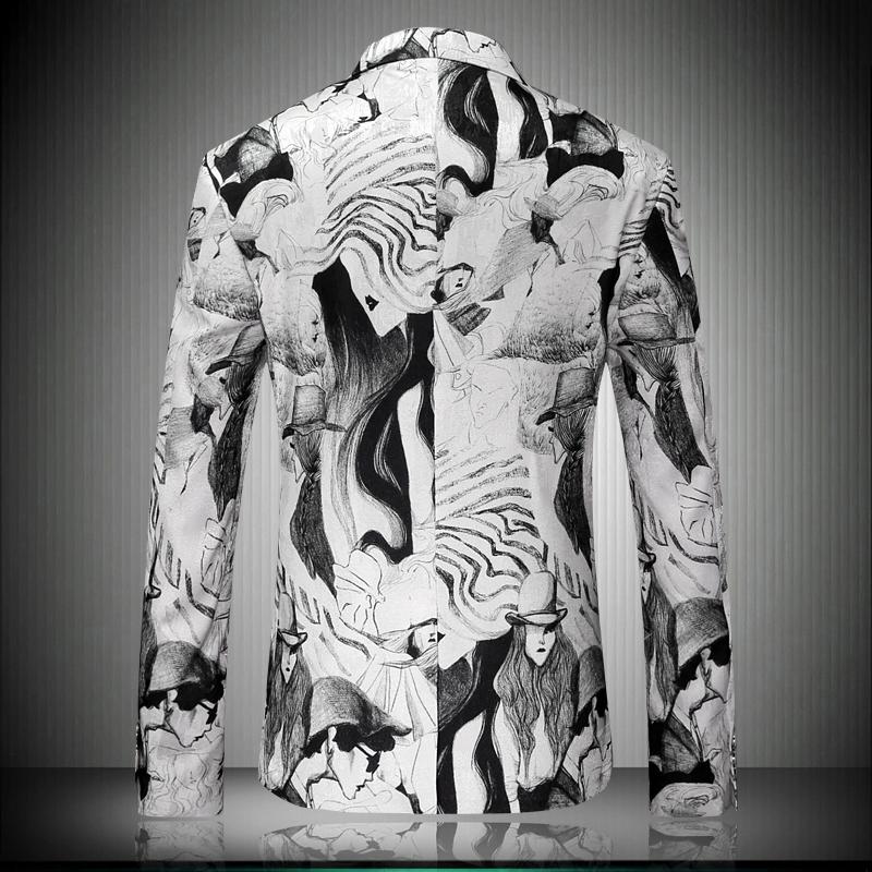 HTB1PlshRpXXXXaZXFXXq6xXFXXXw - Suit Jacket 2017 Hot Slim Fit Men's Jacket Elegant Korean Character Image Print Blazer Pattern Fashion Suit Blazer Masculino