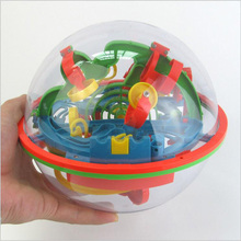 100 Steps 3D Magic Intelligence Balance Maze Ball Rolling Globe For Children Kids Puzzle Ability Labyrinth Games Toys Gift(China)