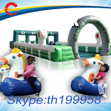 Inflatable Sport Games,Derby Pony inflatable Horses racing track, inflatable sports field for Inflatable pony hop