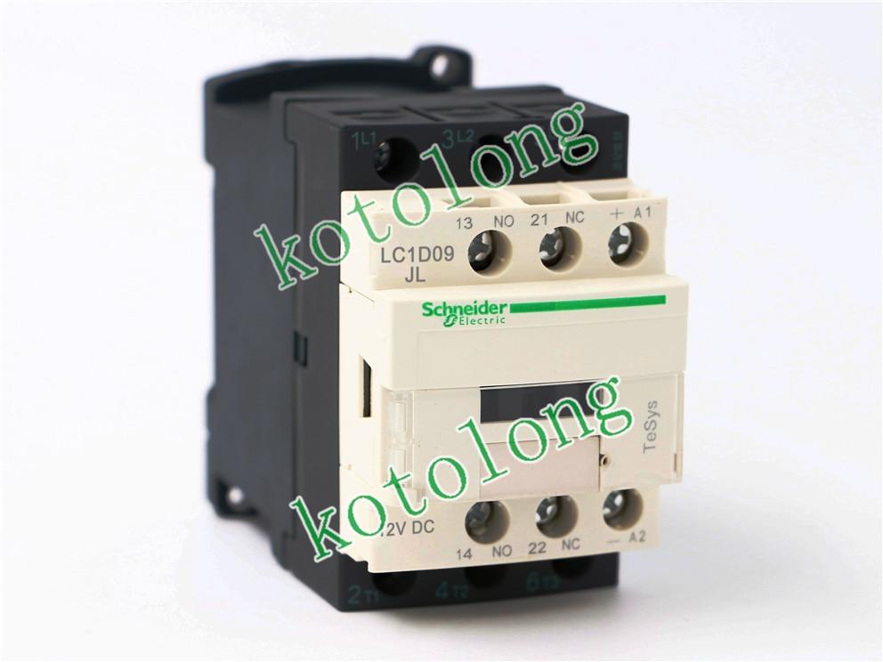 DC Contactor LC1D09 LC1D09JL LC1-D09JL 12VDC LC1D09ML LC1-D09ML 220VDC LC1D09NL LC1-D09NL 415VDC LC1D09ZL LC1-D09ZL 20VDC<br>