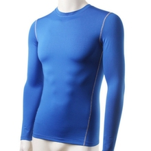 New Arrival Outdoor Sports Men Plush Base Layer Thermal Underwear Long Sleeve Winter Undershirt T Shirt Tops(China)