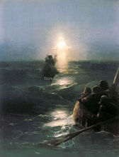 special offer - good -TOP art oil painting--Seascape Christ Walking on the water - 36 inches-free shipping cost(China)