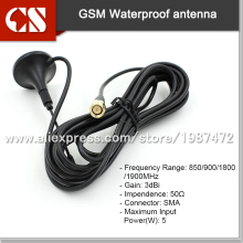 Outdoor GSM GPRS Antenna,3dBi 3M cable / SMA Male Connector gsm aerial(China)