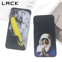 Buy LACK Fashion Retro Abstract Art Phone Case iphone X Case Cartoon Statue Virgin Maria Pattern Back Cover Hard PC Cases Coque for $2.39 in AliExpress store