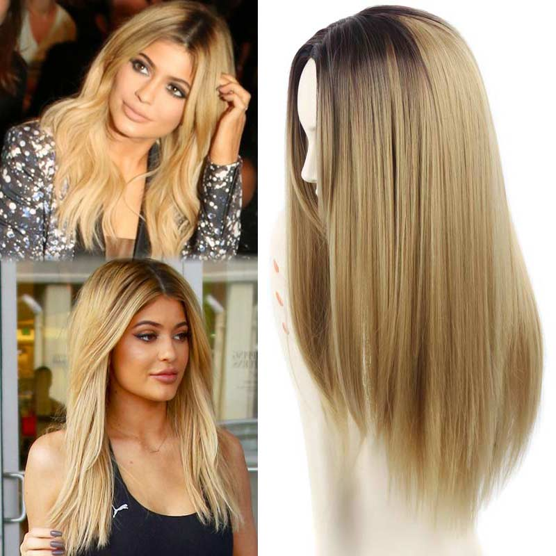 Synthetic Wig Cheap Wigs Ombre Long Wigs For Women Heat Resistant Hot Sale Sexy  Wavy Synthetic Fake Hair  Wig<br><br>Aliexpress