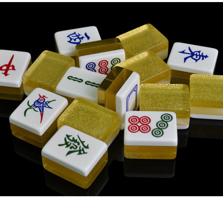 Caixa De Mahjong Portátil Jogo Raro Chinês 144 telhas Mini Mah-jong Conjunto Com Caixa Nova