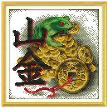 Vein Gold patterns Counted Cross Stitch DIY 11CT 14CT Cross Stitch Set Wholesale Animals Cross-stitch Kits Embroidery Needlework(China)