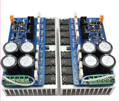 New 2pcs PR-800 Class A / Class AB Professional stage power amplifier board with heatsink<br><br>Aliexpress