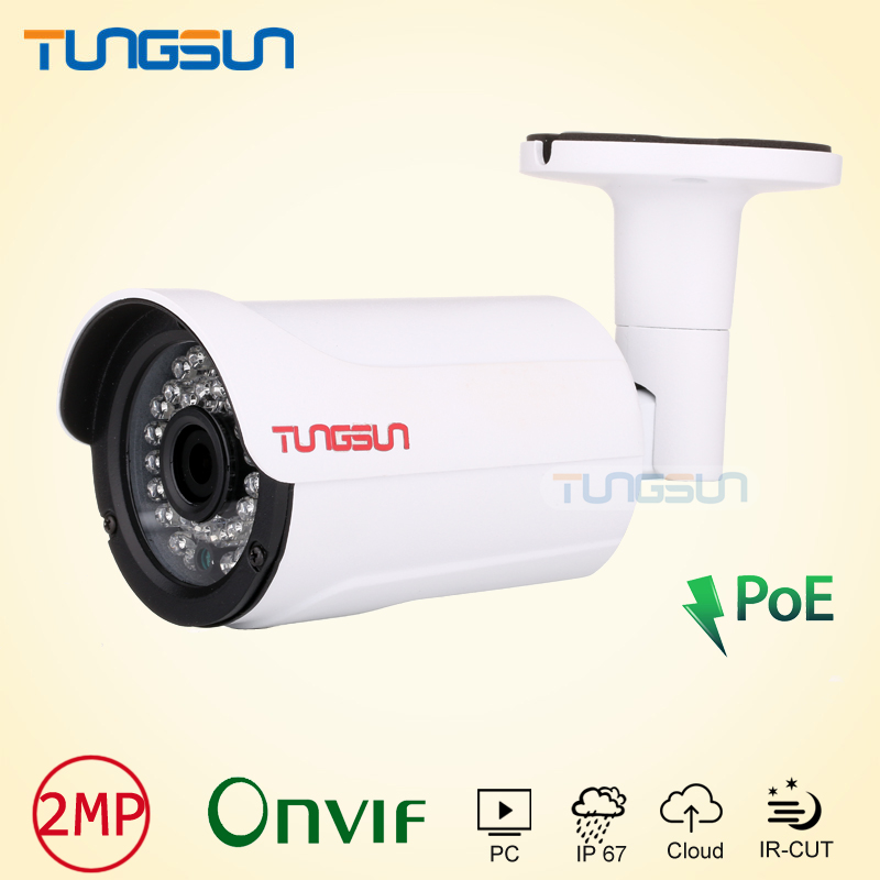New Product 1080p IP Camera POE Security CCTV infrared Night Vision Bullet Metal Waterproof Outdoor Onvif Cam P2P Surveillance<br>