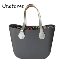 Classic size O bag obag style waterproof EVA body women handbag Rubber Silicon Bag(China)
