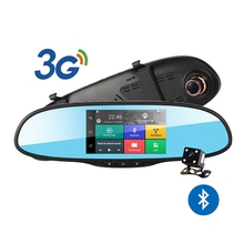 "New 5"" Android 3G Car Camera Rearview Mirror GPS Navigation With Bluetooth Car DVR Wifi Full HD 1080P Dash Cam Video Recorder"