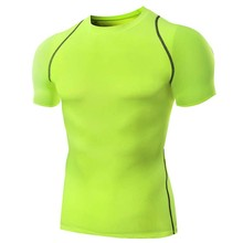 Quick Dry Fitness ireland soccer jersey Round-Neck Short Sleeve Tops Outdoor Men Breathable T-Shirts Sports Slim Camisa
