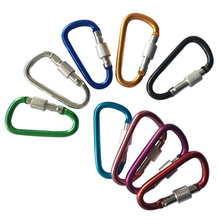 10PC/Lot 5# Mini Carabiner With Screw Lock Spring Keychain Hook For Outdoor Camping Hiking EDC Survival Tool