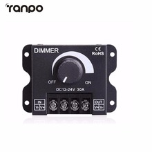 LED Switch Dimmer DC 12V 24V 30A 360W Adjustable Bright Lamp Strip Driver Power Supply Controller LED Strip For 5050 3528(China)