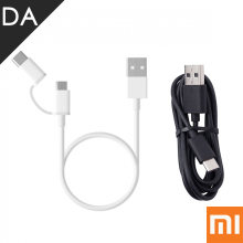 Xiaomi 2 in 1 Micro USB Type C Cable 100cm 30cm 5V 2.4A Fast Charge Data Cable 2In1 Phone Micro Usb Type-C Short Cable USB-C