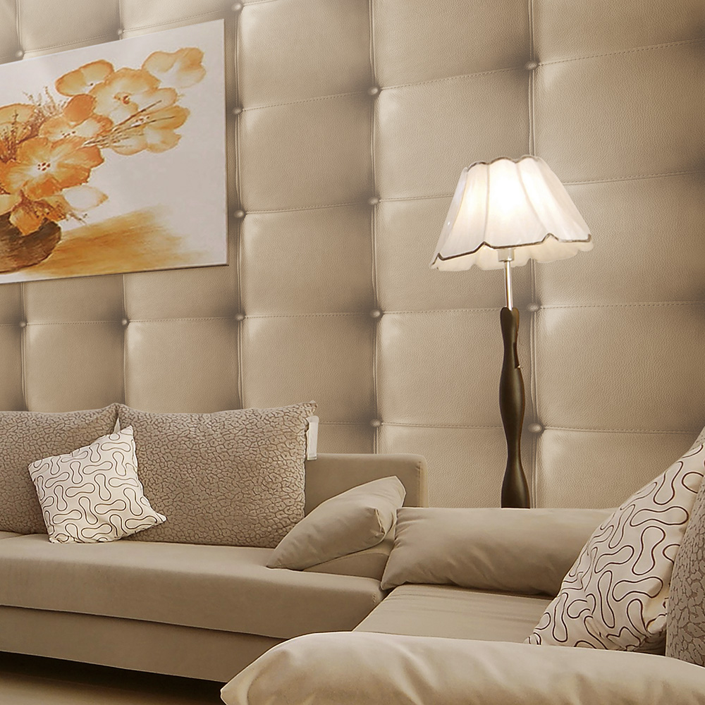 HaokHome Modern Snake Leather Textured Wallpaper Khaki Realistic 3D Wall Paper Rolls Living Bedroom Home Wall Decoration<br>