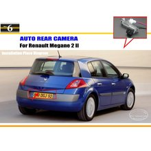 Car Rear View Camera For Renault Megane 2 II / Reverse Camera / HD CCD RCA NTST PAL / License Plate Light OEM