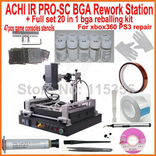 New ACHI IR PRO SC V4 BGA rework reball station + full set bga reballing kit stencils for xbox360 ps3 WII game consoles repair(China)