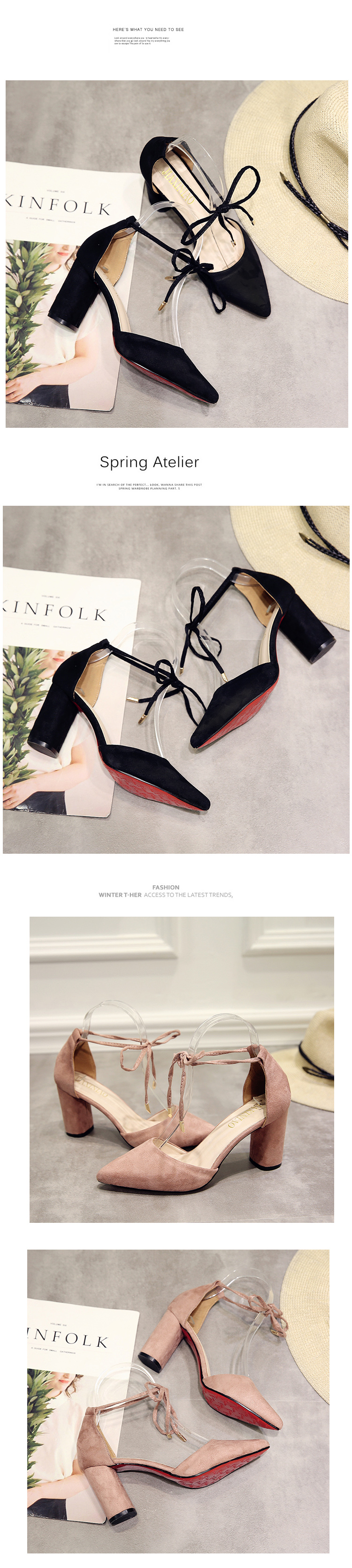 Summer Women Shoes Pointed Toe Pumps Dress Shoes High Heels Boat Shoes Wedding Shoes tenis feminino Side with Straps 8 4
