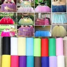 2016 22mX15cm Colorful Tissue Tulle Roll Spool Craft Wedding Party Decoration Organza Sheer Gauze Element Table Runner 9zSH759