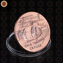 U.S. Army Air Force Cayuse OH-6 Coin America Souvenir Brass Custom Coin Low Price Challenge Novelty Coin For Value Gift