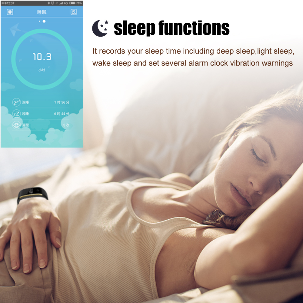 Waterproof Android Pedometer + Blood Pressure & Heart Rate Monitor Wrist Watch 13