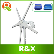 400W wind power generator with 5 PCS blades. Combine with wind/solar hybrid controller+600w off grid inverter.(China)