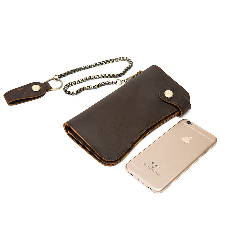 chain leather men wallets (2)