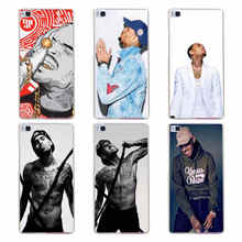 60GH chris brown Hard Transparent Cover for Huawei P7 P8 P8 P9 P10 Lite y5 ii Honor 4C 5C 6 7 8 & Nova(China)
