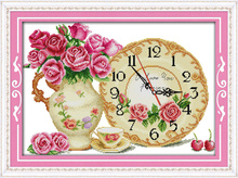 Innovation items needlework kit DIY home decoration counted cross stitch kit clock embroidery set - Fall in love at first sight
