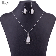 MS1504638 Fashion Jewelry Sets Hight Quality Necklace Sets For Women Jewelry Silver Plated Unique penguin Design Party Gifts