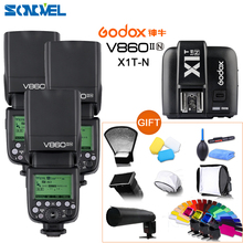 Buy Free DHL Godox 3x V860II-N GN60 i-TTL HSS 1/8000s Flash Speedlite Li-ion Battery + X1T-N Flash Transmitter Nikon+Gift Kit for $643.00 in AliExpress store