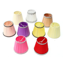 9 Colors 12cm Modern Fabric Colth Chandelier Lampshade Holder Clip On Sconce Table Beside Bed Lamp Hanging Light(China)
